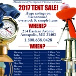 Weems & Plath 2017 Tent Sale