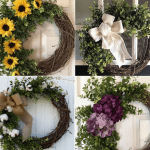 Make-Your-Own Boxwood and Grapevine Spring Wreath