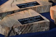 Donors supporting Cloud's restoration received a section of Flying Cloud's center log as a thank you gift at the Oct. 17 re-launch of the seven-log canoe. Flying Cloud is the second largest sailing log canoe still under sail, and was built on Tilghman Island, Md. in 1932 by the legendary John B. Harrison. Harrison also built Flying Cloud's sister ship, Jay Dee a year earlier—the largest log canoe still in the fleet.