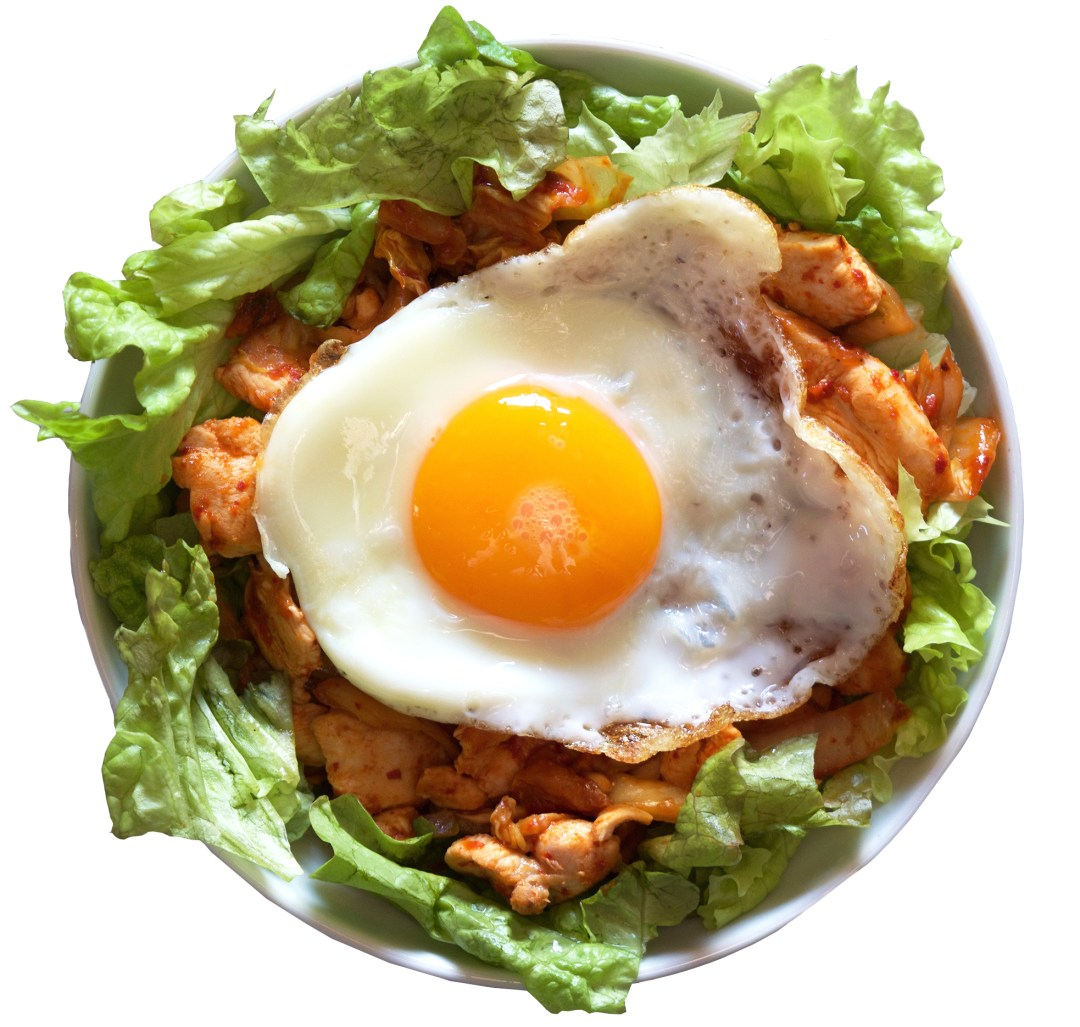 chicken and kimchi