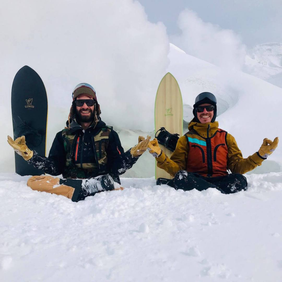 Zen meditation, snowboarding