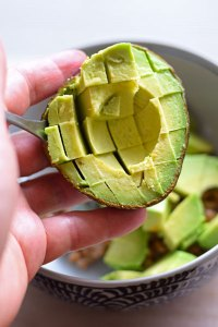 add avocado chunks to natto