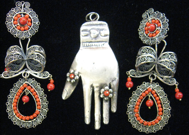 Antique Mexican Jewelry Eyes Gallery