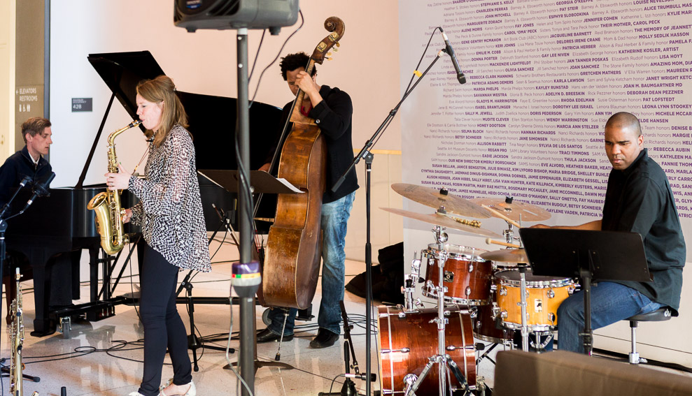 Dutch jazz sax musician Tineke Postma
