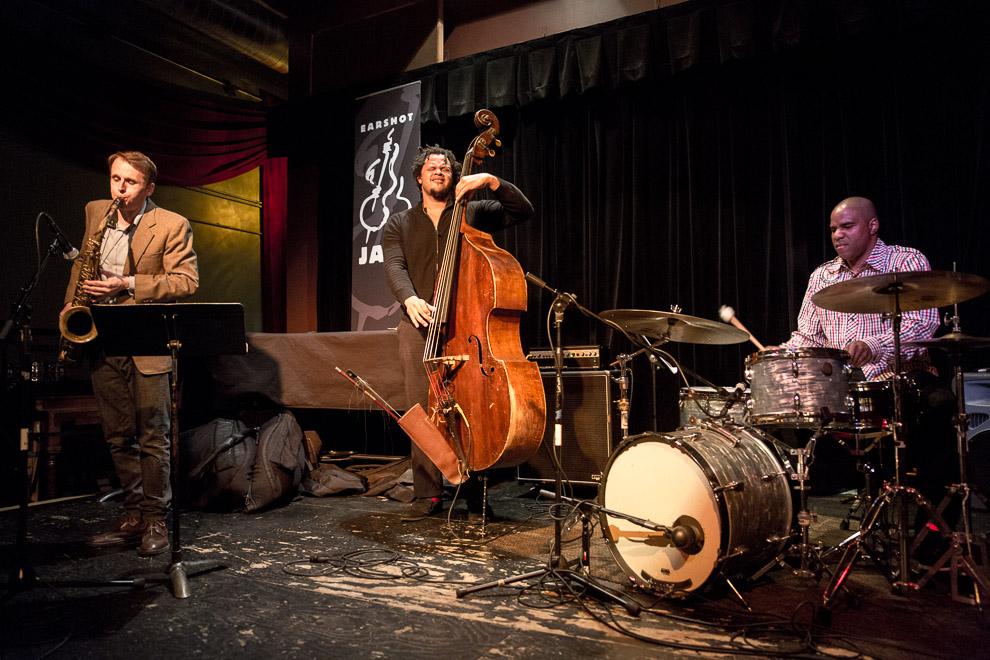 Jazz trio in Seattle by jazz photographer Daniel Sheehan