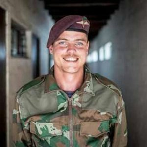 Daniel Maguire in his military outfit is now fitness trainer in Umhlanga