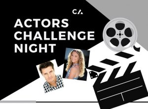 Film reel with photos of Creating Actors coaches Joel Pierce and Kylie Loveday