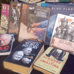 ten books on show at Bookworm Bargains in Upper Highway KZN