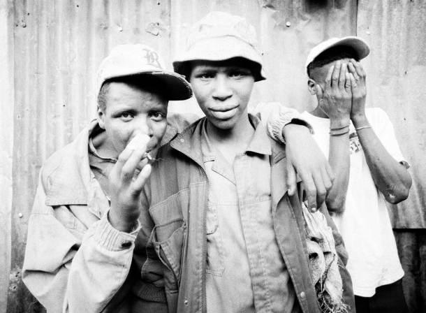 Urban Survivors (Mathare): 3 homeless like the three wise monkeys