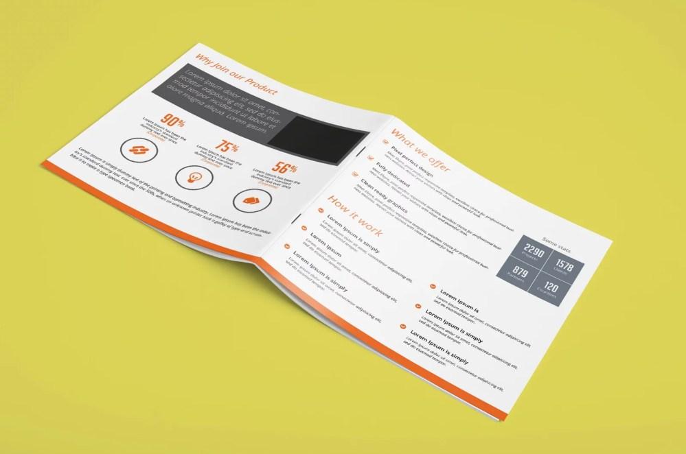 latest Square Brochure Mockup