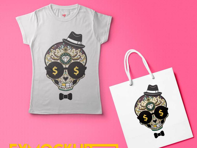 T Shirt Bag Mockup Template