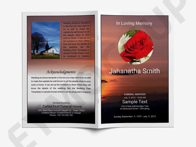 BiFold Funeral Brochure Template