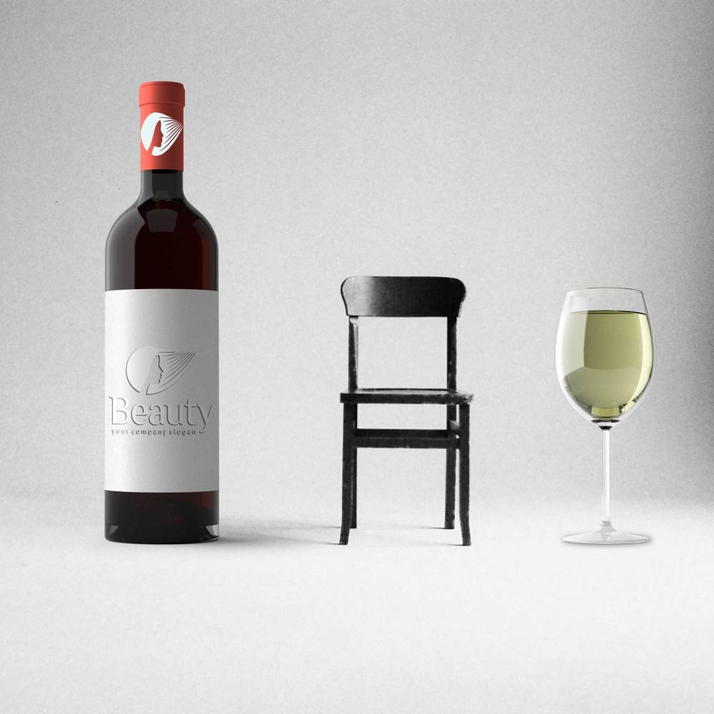 Beauty WIne Label Mockup