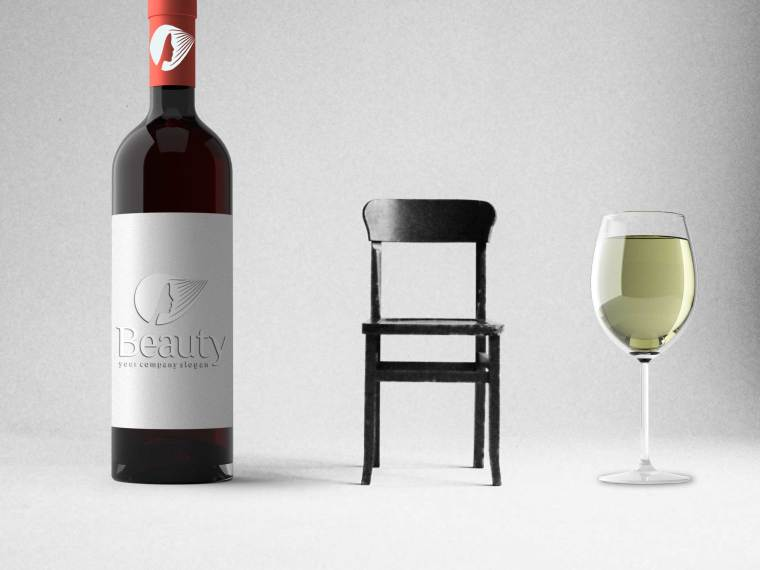 Beauty WIne Label Mockup (2018)
