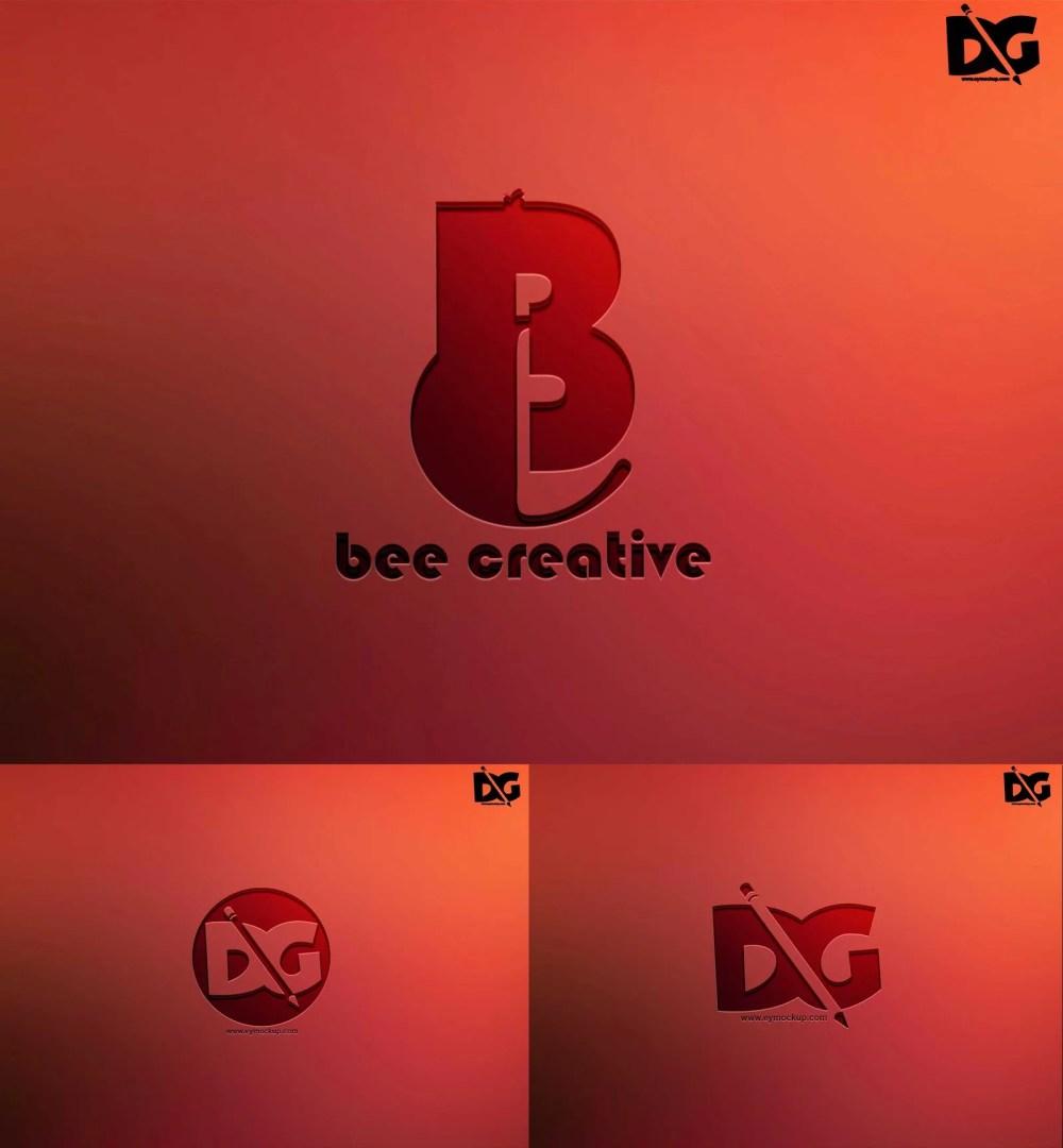 Pressed Logo Wall mockup