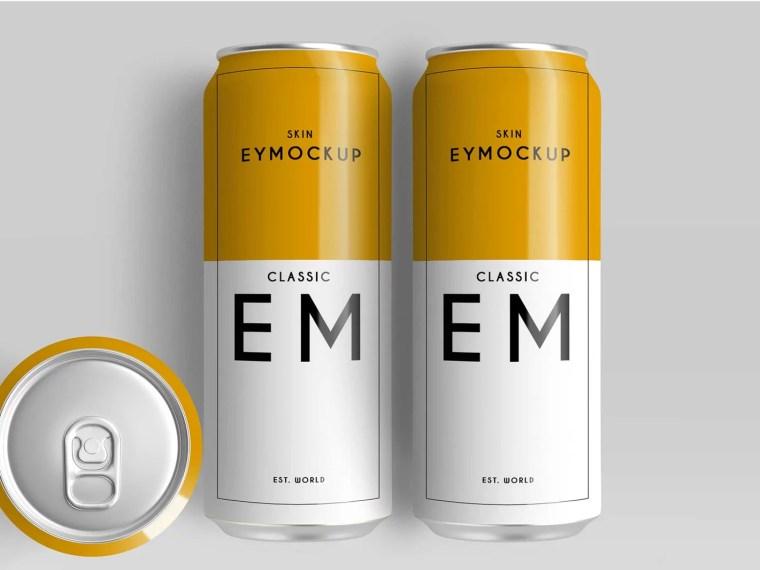 Big Beer Can Design Presentation Mockups