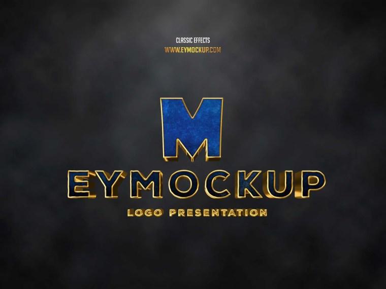 Classic Premium 3D Logo Mockup