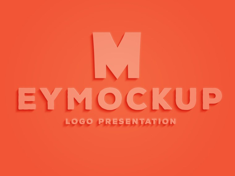 Clean Glossy Plastic Sheet Logo Mockup
