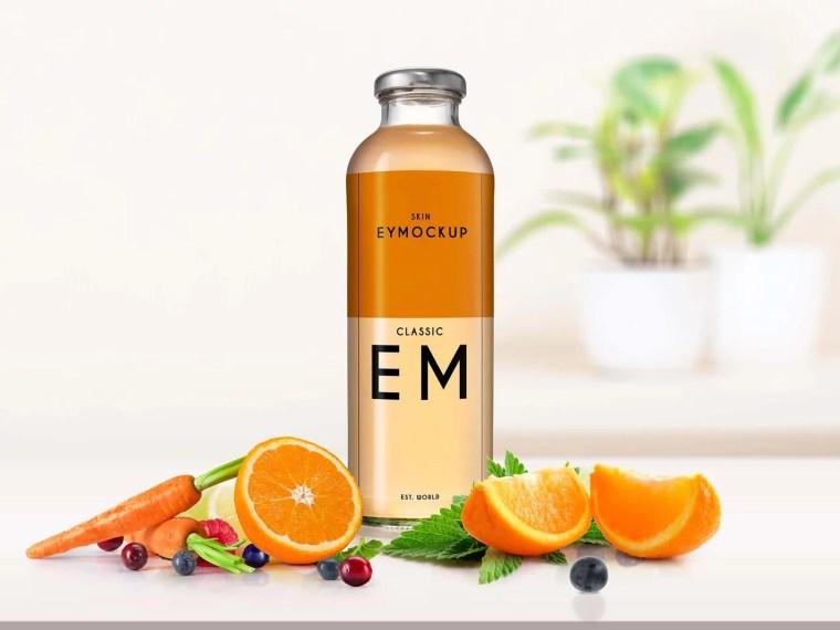 Honey Bottle Scene Mockup