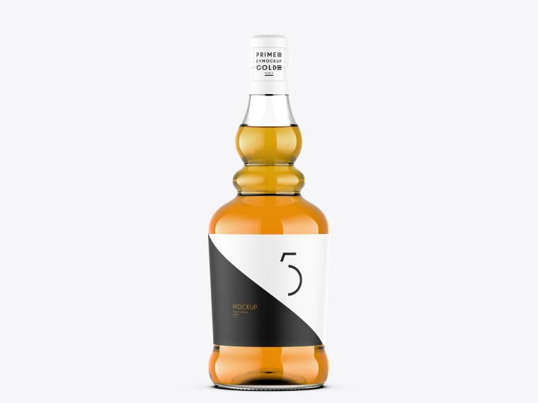 Luxurious Whisky Label Presentation Mockup