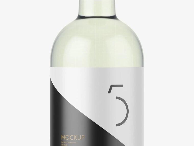 Nicest Small Vodka Bottle Label Mockup