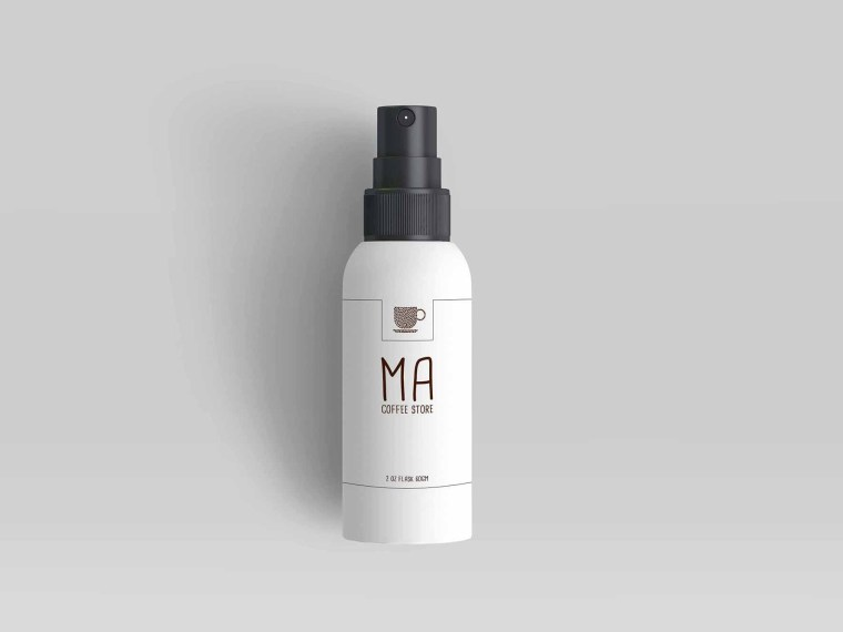 Premium Spray Mini Bottle Label Presentation