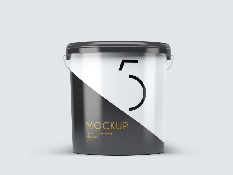 Asian Paint Bucket Label Mockup