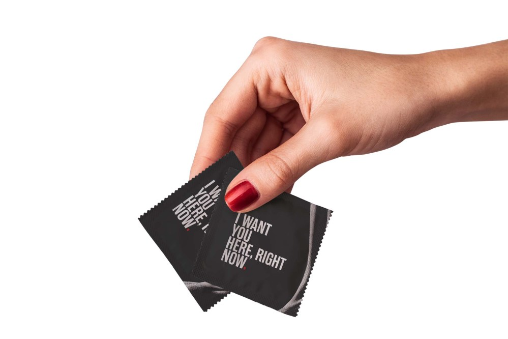Condom Pouch Label Design