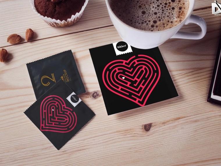 Condom Pouch Label Design Mockup
