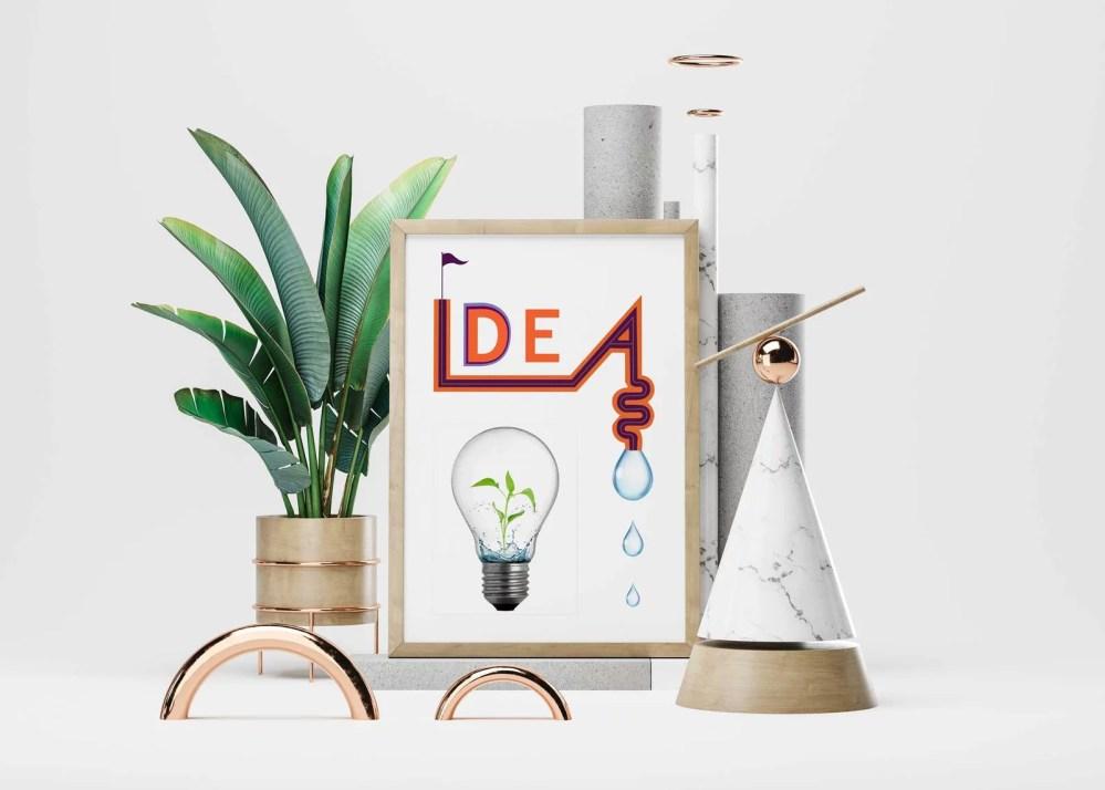 Realistic Poster Design Mockup