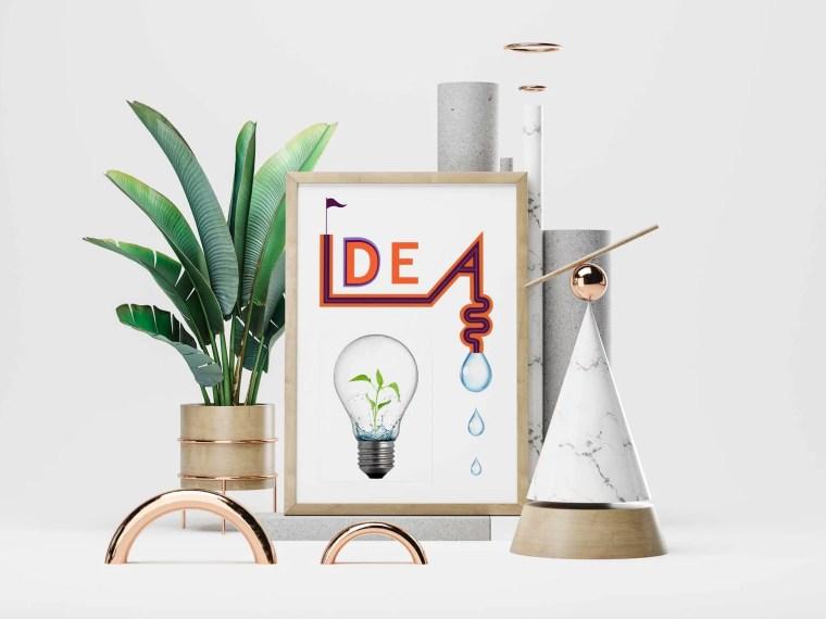 Modern Realistic Poster Design Mockup