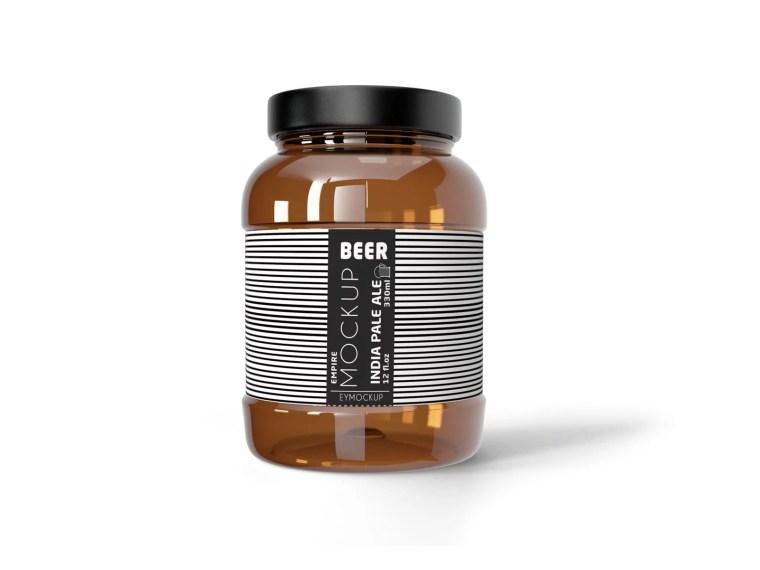 New Jar Bottle Label Mockup