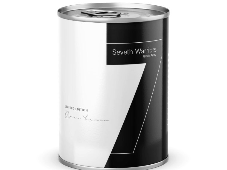 Paint Tin Can Label Mockup