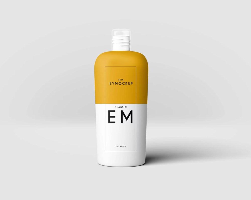 Shampoo Bottle Label Mockup