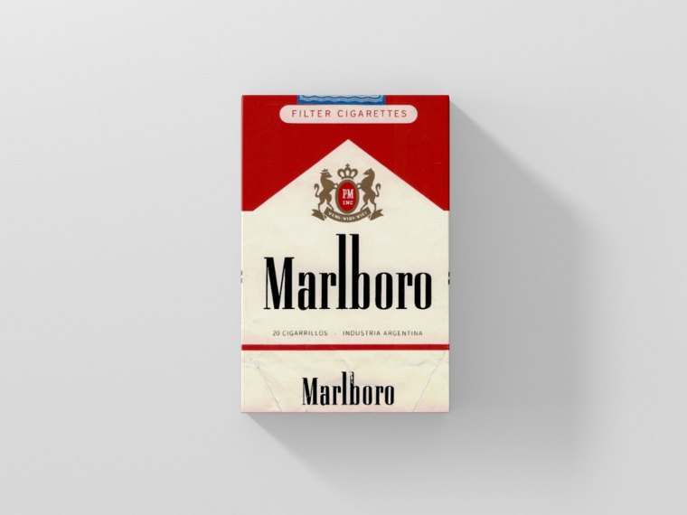 Cigarette Box Packaging Label Mockup