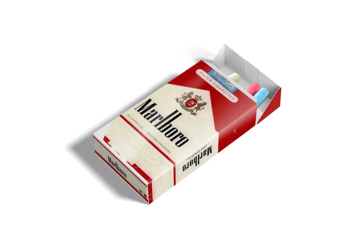 Download Cigarette Box Packaging Label Mockup | eyMockup