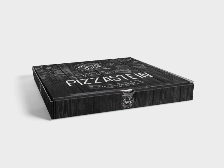 New Pizza Box Label Presentation Mockups