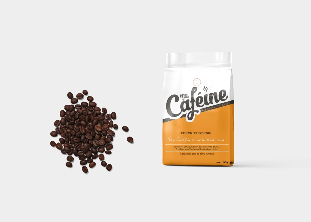 Coffee Packaging Pouch Label Mockup
