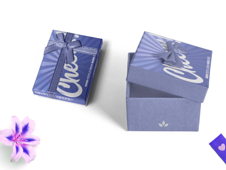 Beautiful Purple Box Packaging Mockup