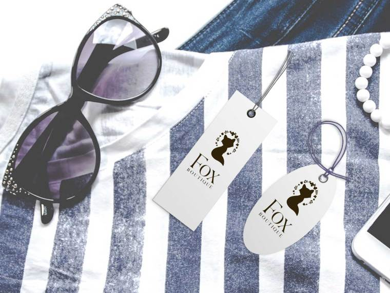 Premium Fashion Cloth Tag Mockup