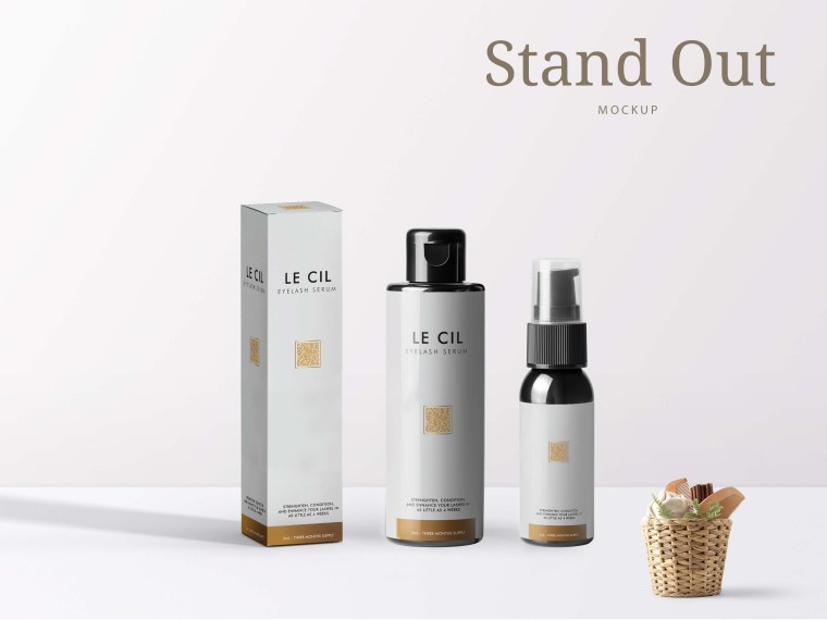 New Premium Stand Bottle Mockup