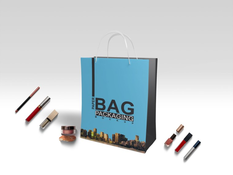Premium Carrier Bag PSD Mockup