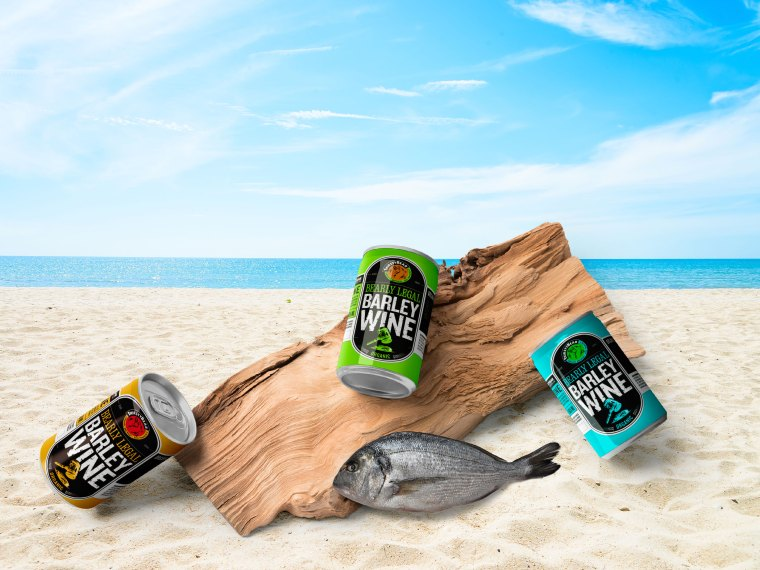 Beach Tin Can Label Mockup