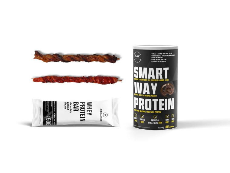 New Snack Proteing Bar Packaging Mockup