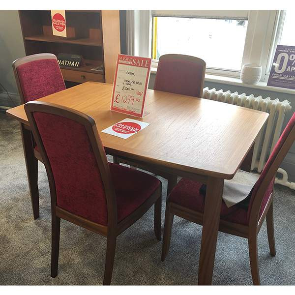 Shades Extending Table With 4 Chairs From Eyres Home Chesterfield