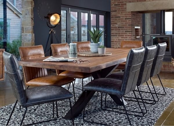 Bahama 200cm Holburn Dining Table 6 Cooper Dining Chairs
