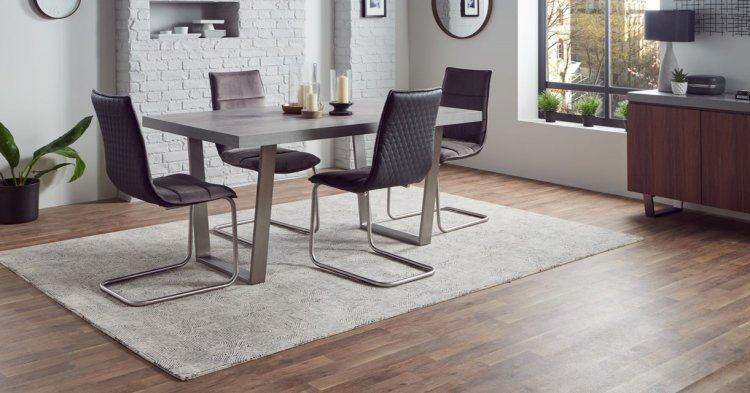 Nevis 160cm Dining Table 4 Marta Dining Chairs Special Set