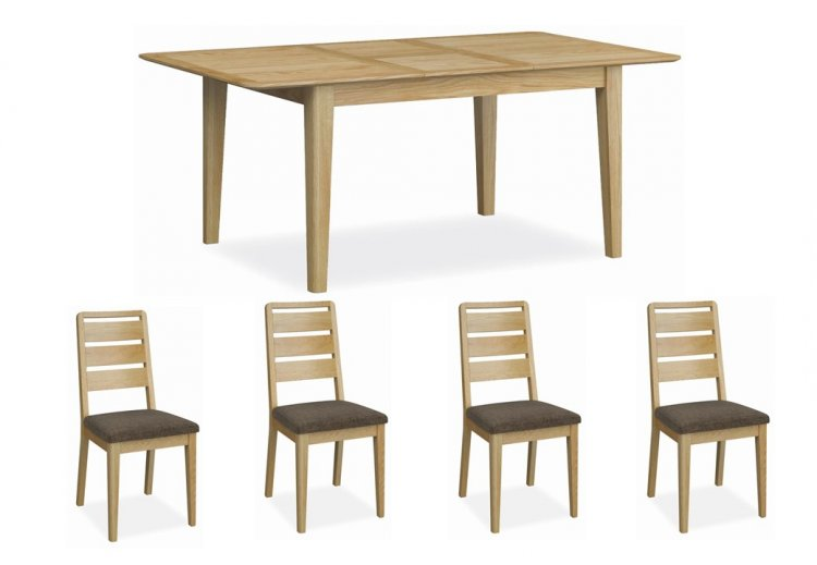 Dukeries Hardwick Small Extending Dining Table 4 Chairs Eyres