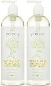 Puracy 100% Natural Baby Shampoo & Body Wash - Sulfate-Free - THE BEST Bubble Bath - Developed By Doctors for Children of All Ages - Gentle - Tear-Free - Hypoallergenic - Vegan - Gluten-Free - Citrus Essentia