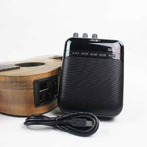 Aroma Compact Portable Guitar Amplifier Clip Amp Recorder Speaker & TF Card Slot
